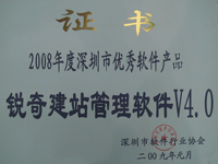 2008年度优秀软件产品